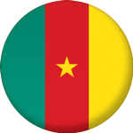 Cameroon Country Flag 58mm Mirror Keyring